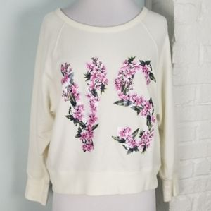 Victoria's Secret Floral VS Sweatshirt